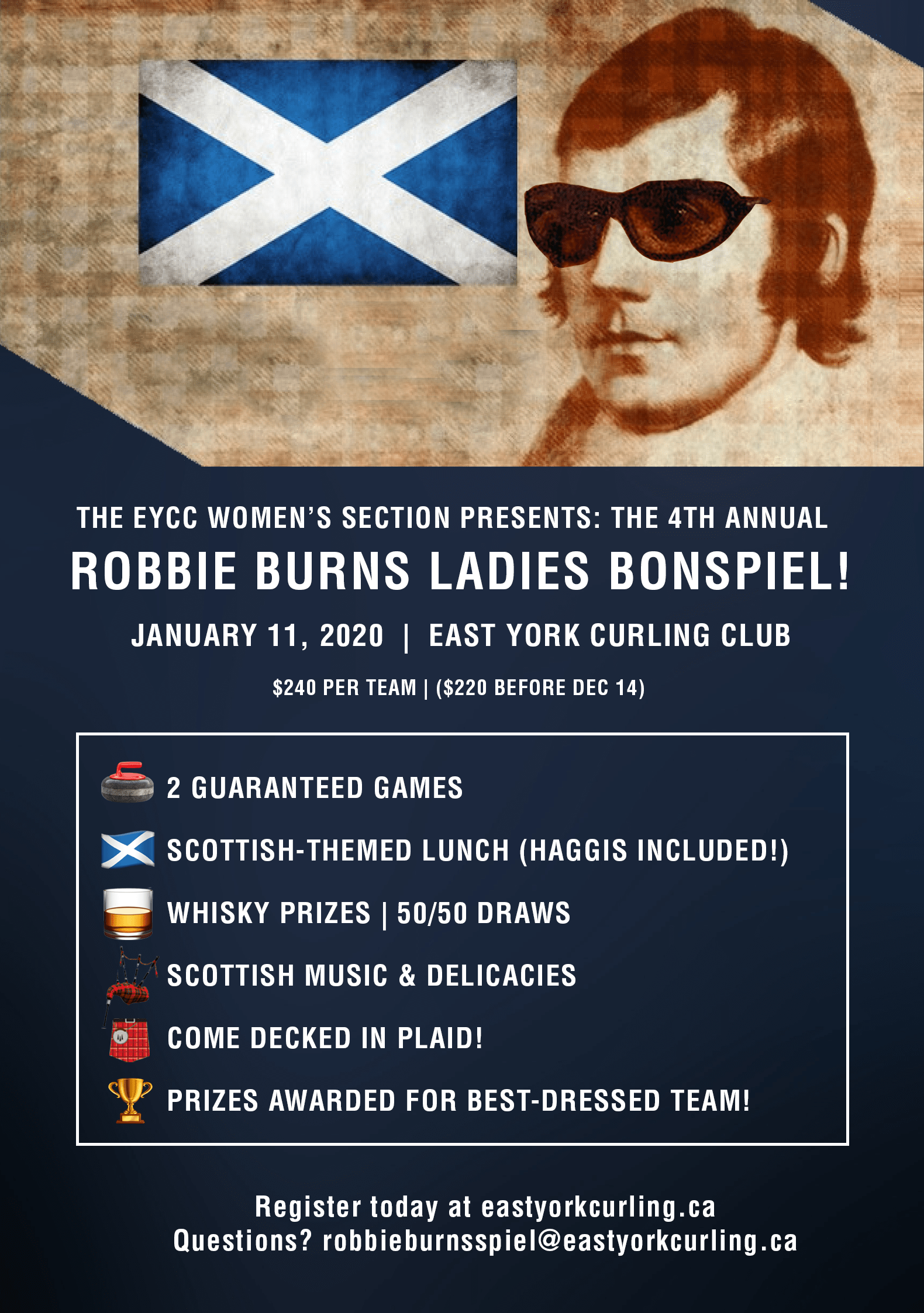 2019 Robbie Burns Bonspiel Poster 2