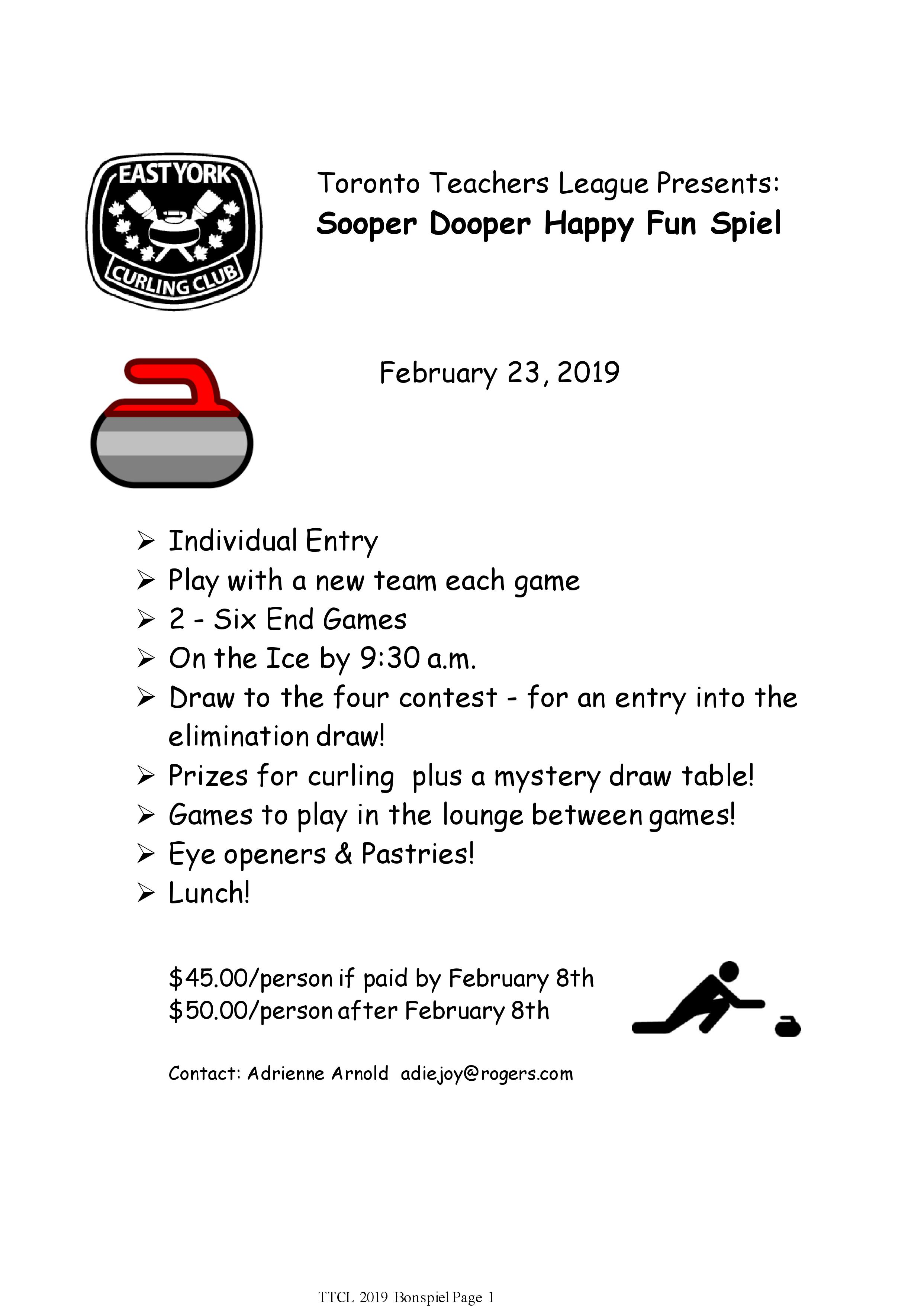 Toronto Teachers Bonspiel 2019